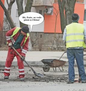 În concediu, angajaţii Citadin fac trotuarul!