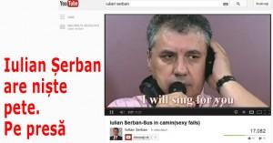 Iulian Șerban are niște pete. Pe presă
